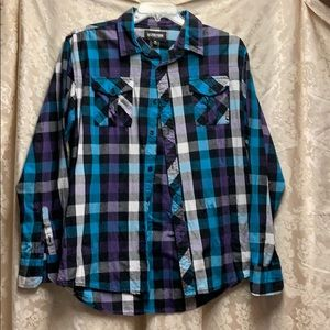 👕🌈🦄Zoo York Blue/Purple Check Shirt